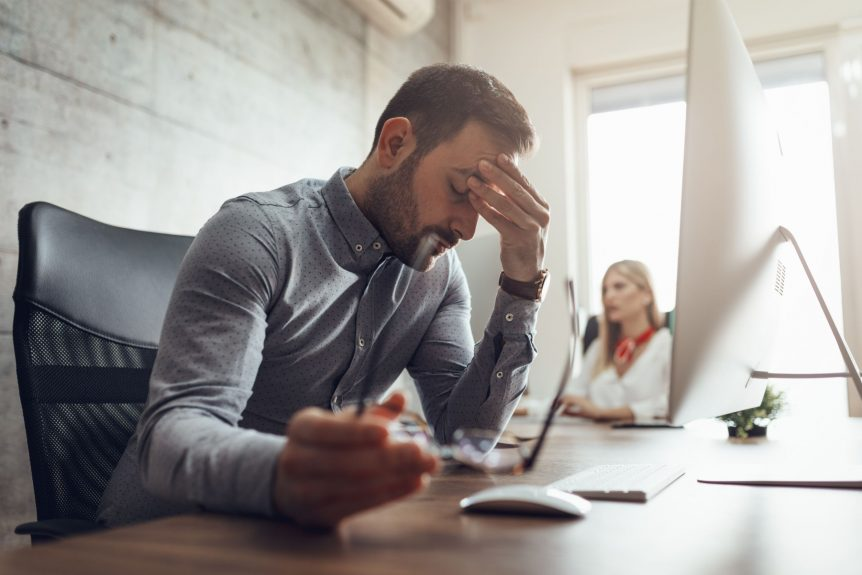 Man who got a divorce that is struggling at work